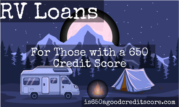 rv loan credit score 650
