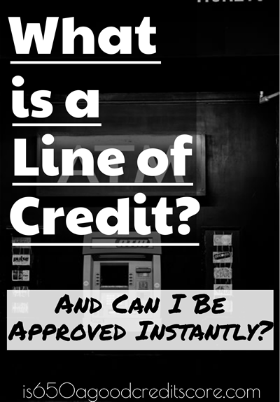 instant line of credit online