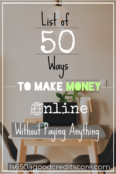 list of 50 ways to make money online without paying anything